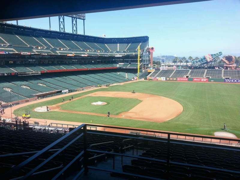 Seating view for AT&T Park Section 205 Row K Seat 1