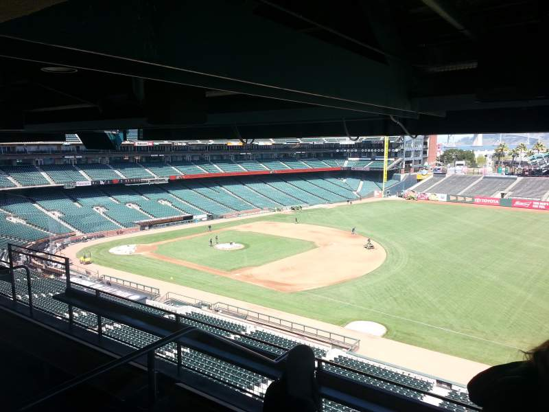 Seating view for AT&T Park Section Suite 1 Row A Seat 5