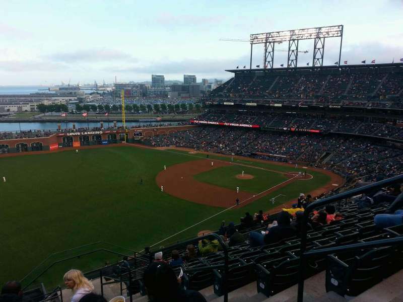 Seating view for AT&T Park Section 331 Row 9 Seat 3