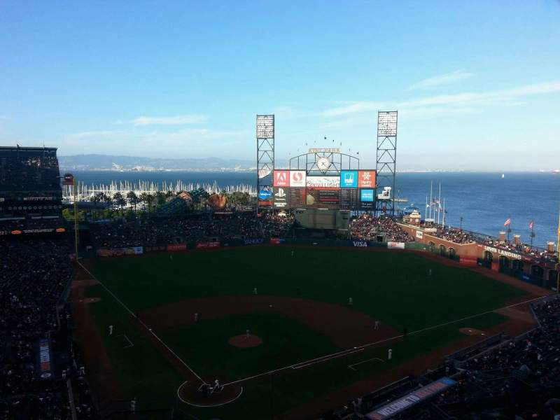 Seating view for AT&T Park Section 313 Row 10 Seat 15
