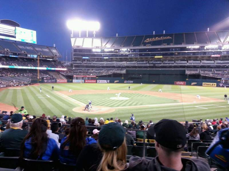 Seating view for Oakland Alameda Coliseum Section 116 Row 26 Seat 1
