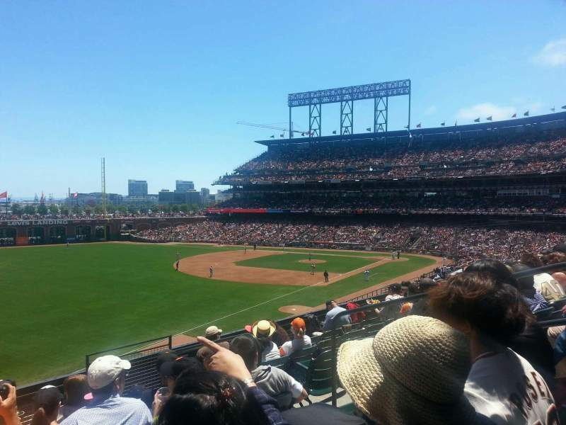 Seating view for AT&T Park Section 231 Row g Seat 5