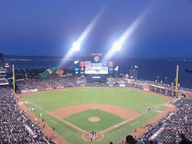 Seating view for AT&T Park Section 315 Row 12 Seat 7
