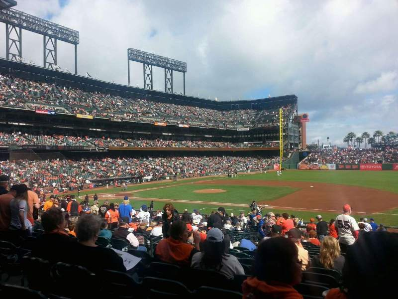 Seating view for AT&T Park Section 106 Row 30 Seat 9