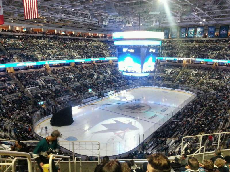 Seating view for SAP Center Section 219 Row 10 Seat 19