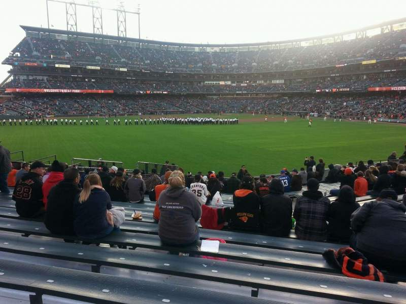 Seating view for AT&T Park Section 142 Row 18 Seat 9