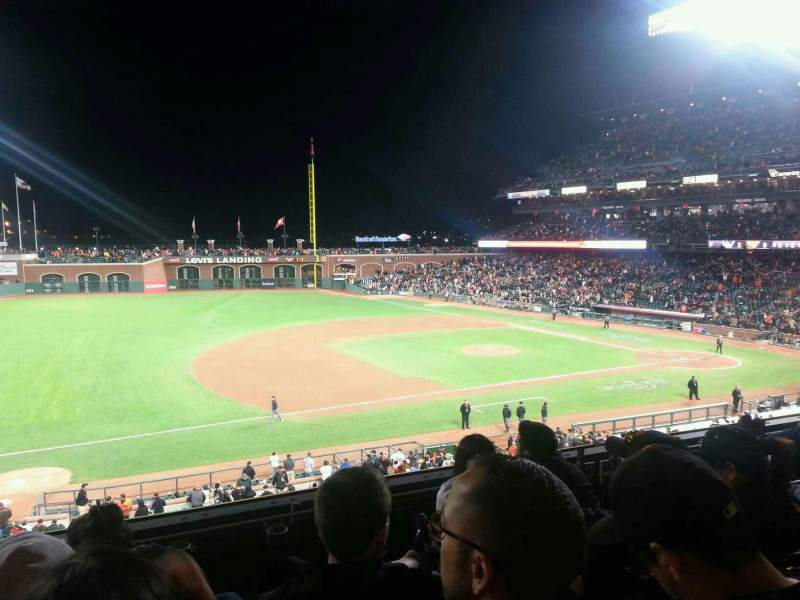 Seating view for Oracle Park Section 225 Row D Seat 16