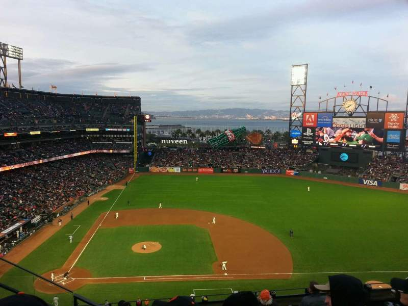 Seating view for Oracle Park Section VR308 Row 3 Seat 23