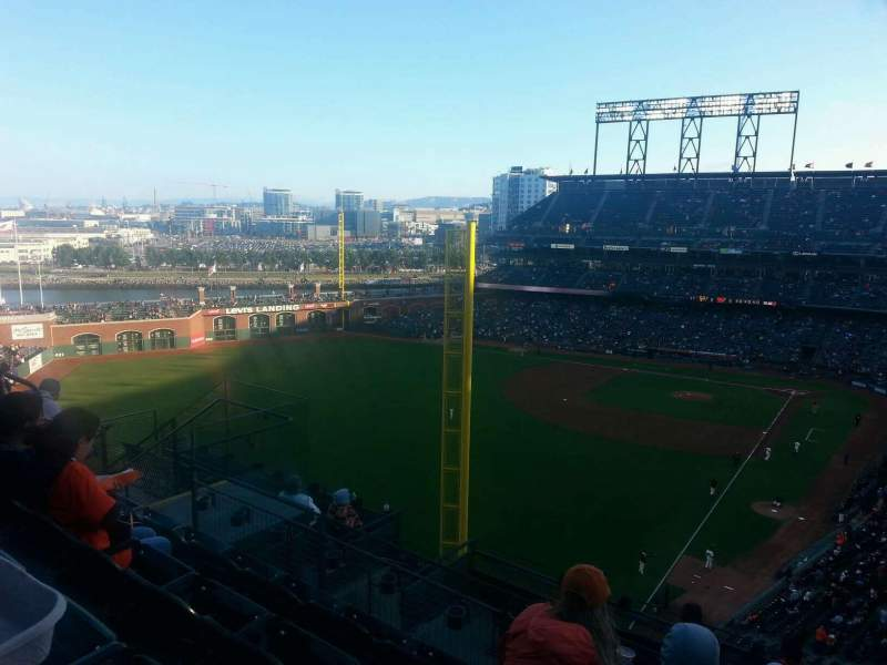 Seating view for Oracle Park Section VR335 Row 4 Seat 11