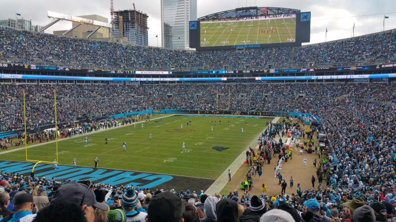 Seating view for Bank of America Stadium Section 254 Row 16 Seat 11