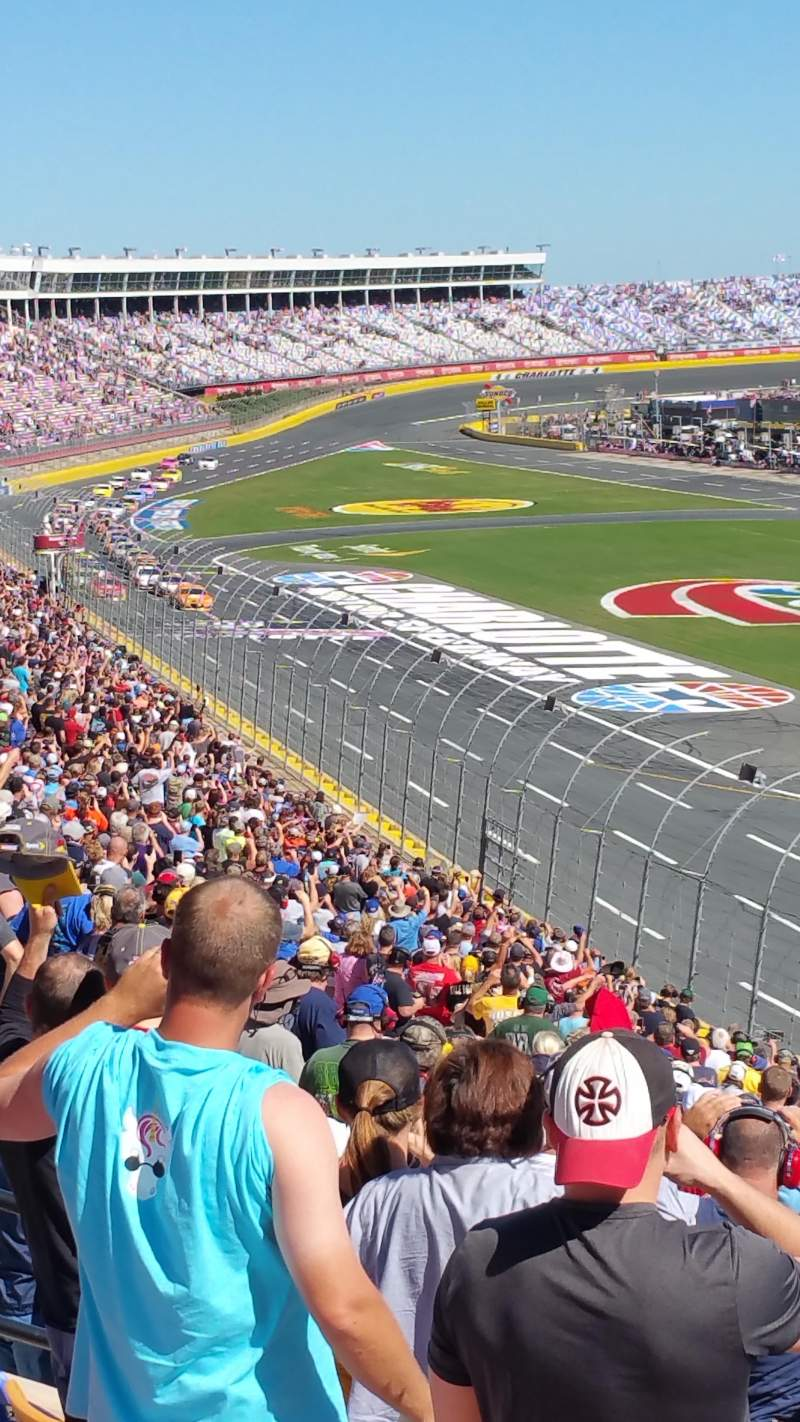 Seating view for Charlotte Motor Speedway Section Old Veranda J Row 38 Seat 15