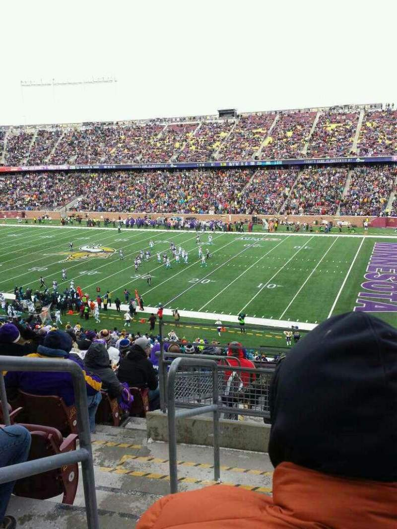 Seating view for TCF Bank Stadium Section 235 Row 11 Seat 18