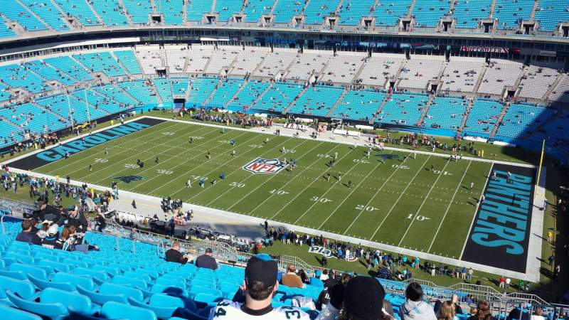Seating view for Bank of America Stadium Section 538 Row 12 Seat 1
