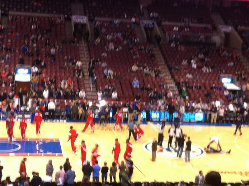 Seating view for Wells Fargo Center Section Club Box 12 Row 7 Seat 5
