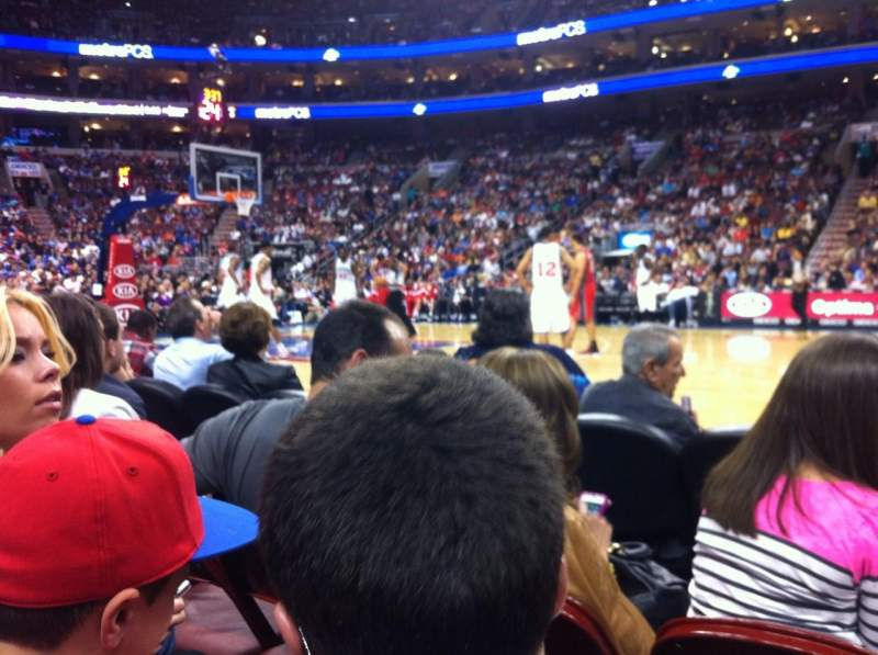 Seating view for Wells Fargo Center Section 113 Row CC Seat 11