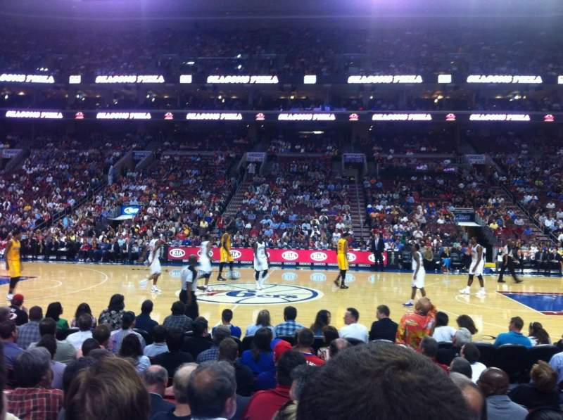 Seating view for Wells Fargo Center Section 113 Row 6 Seat 13