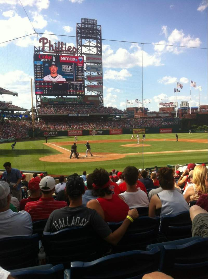Seating view for Citizens Bank Park Section F Row 15 Seat 9