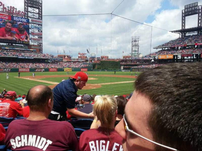 Seating view for Citizens Bank Park Section E Row 17 Seat 13
