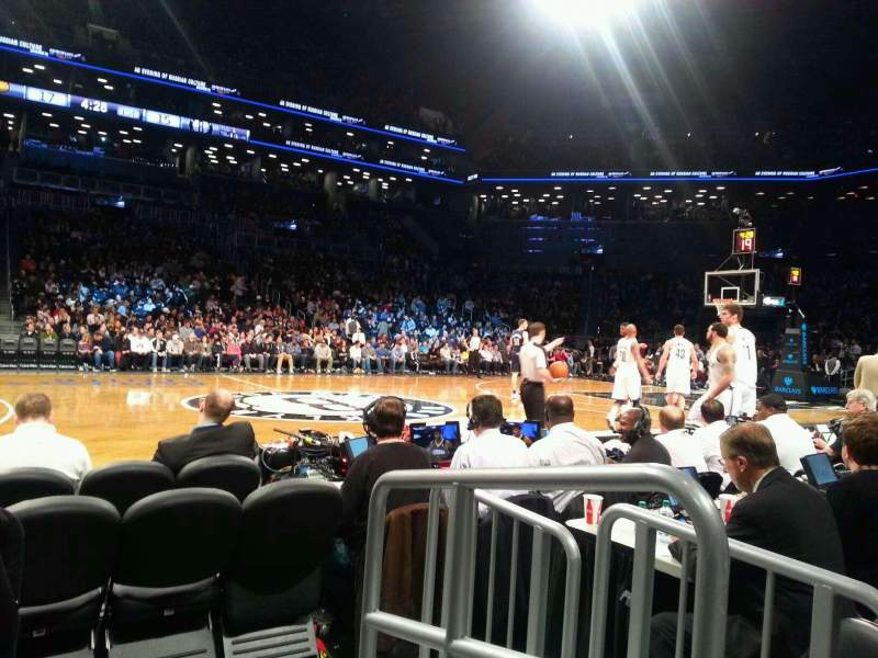 Seating view for Barclays Center Section 9 Row 1 Seat 8