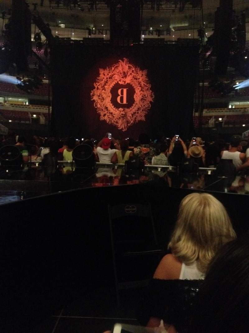 Seating view for United Center Section BeyStage Row General Admiss