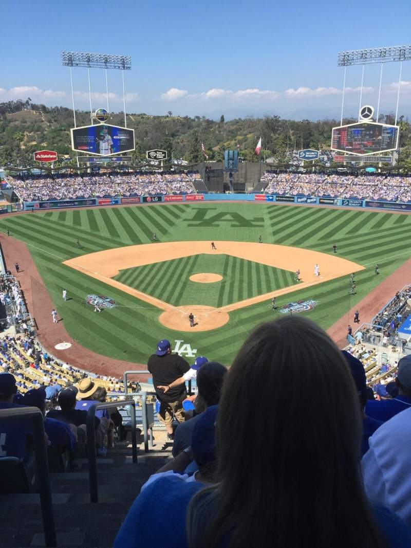 Seating view for Dodger Stadium Section 2 Row J Seat 1