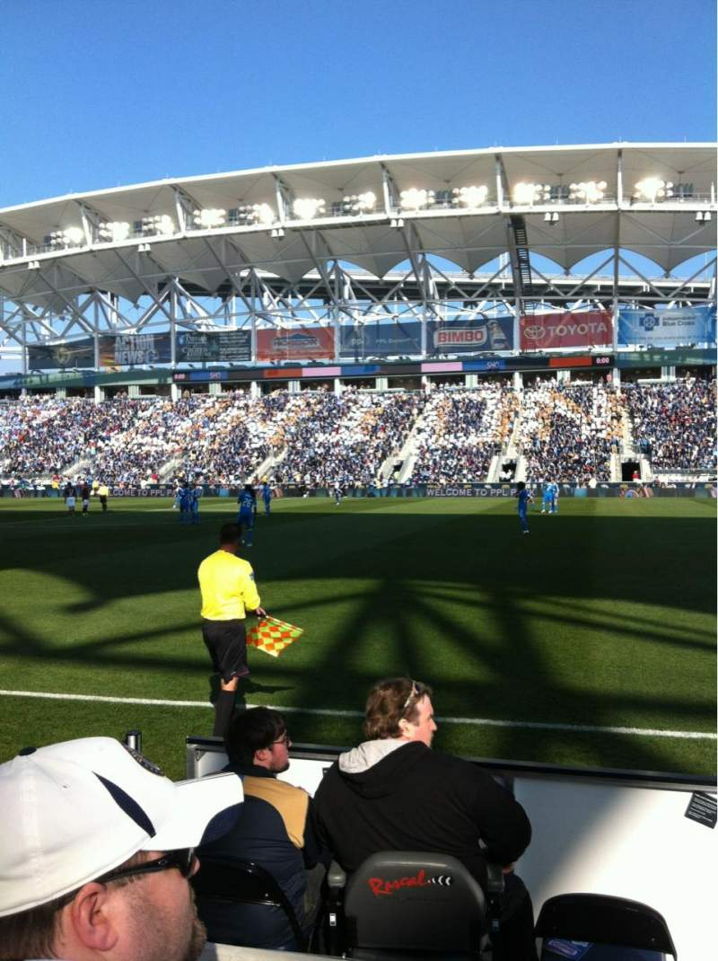 Seating view for Talen Energy Stadium Section 105 Row B Seat 4