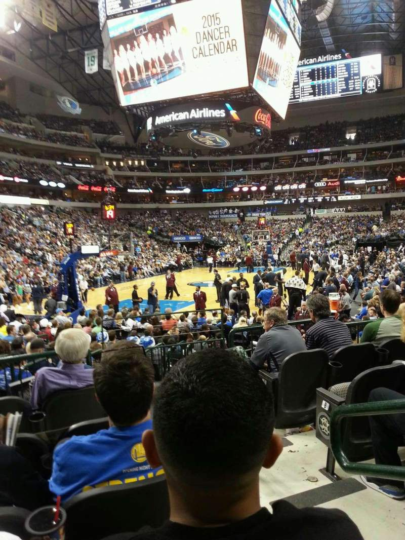 Seating view for American Airlines Center Section 123 Row E Seat 2