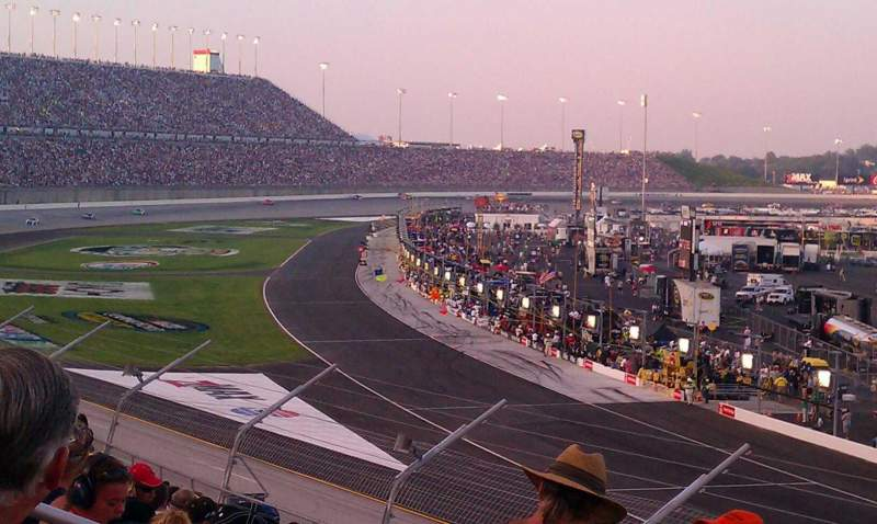 Seating view for Kentucky Speedway Section Grandstand 1 Row 13 Seat 13