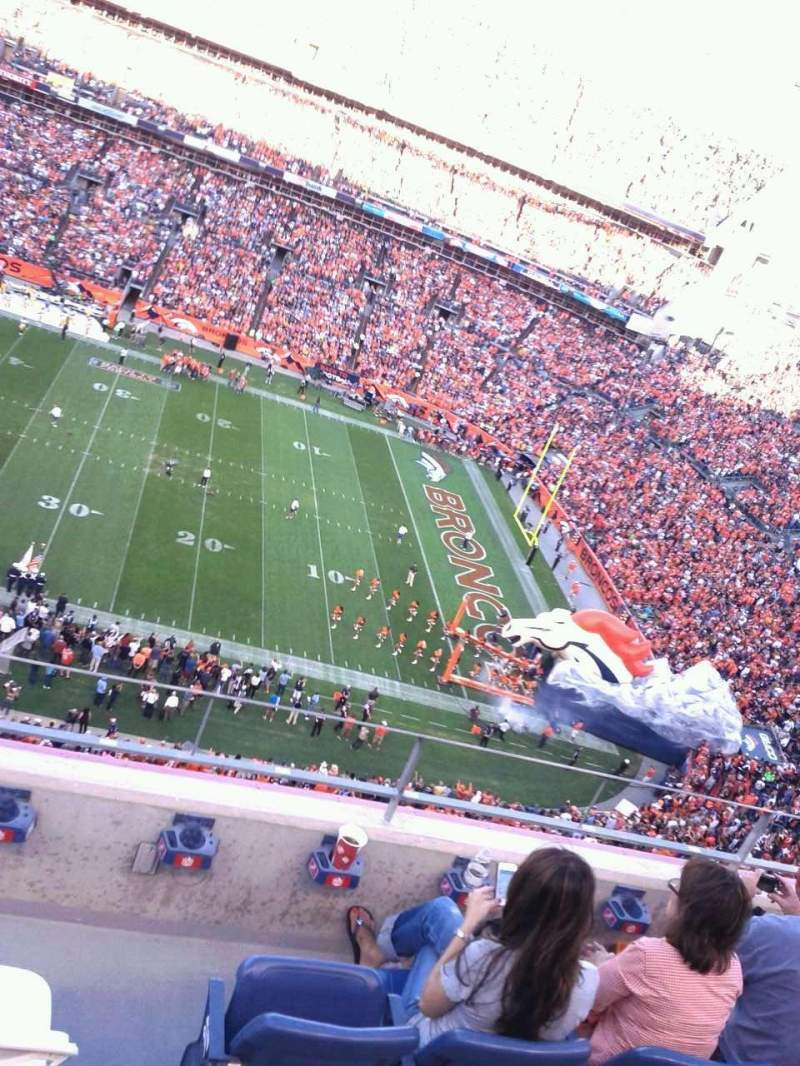 Seating view for Sports Authority Field at Mile High Section 506 Row 4 Seat 9