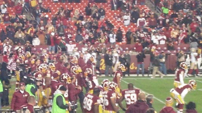 Seating view for FedEx Field Section 104 Row 17 Seat 24