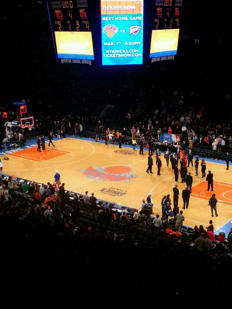 Seating view for Madison Square Garden Section 214 Row 3 Seat 2