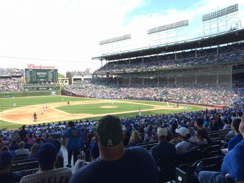 Seating view for Wrigley Field Section 209 Row 6 Seat 21