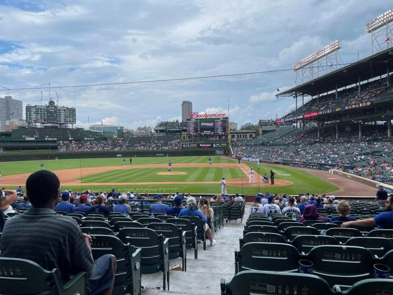Seating view for Wrigley Field Section 114 Row 13 Seat 1