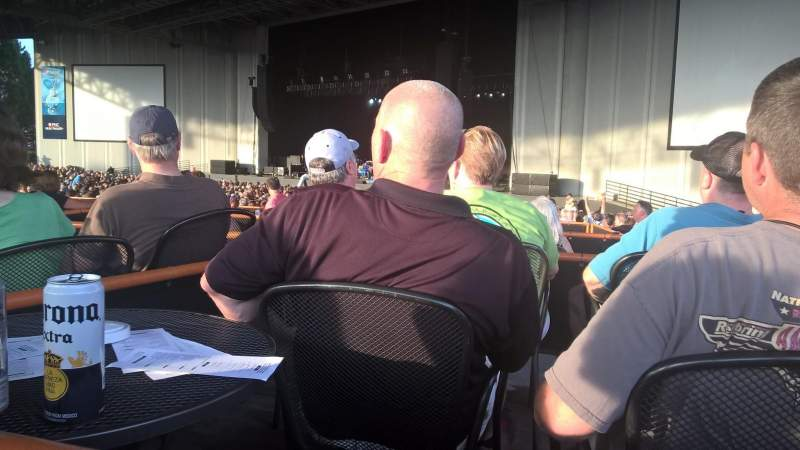 Seating view for PNC Music Pavilion Section Sec 5 Row F Seat 5