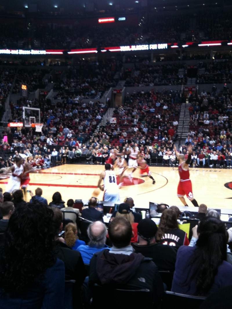 Seating view for Moda Center Section 102