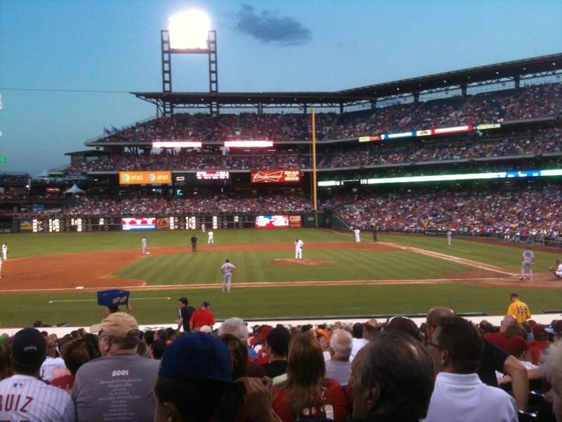 Seating view for Citizens Bank Park Section 130 Row 20 Seat 14