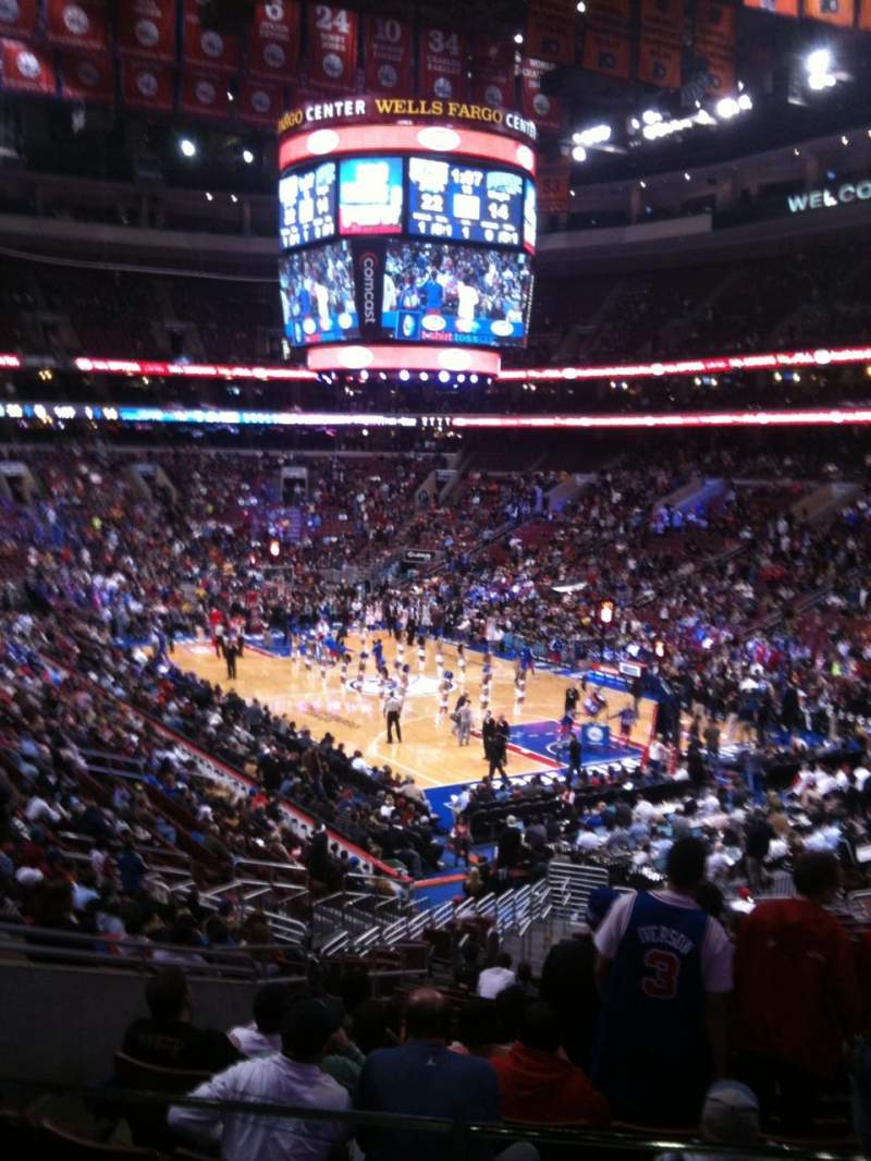 Seating view for Wells Fargo Center Section CC17 Row 1 Seat 8
