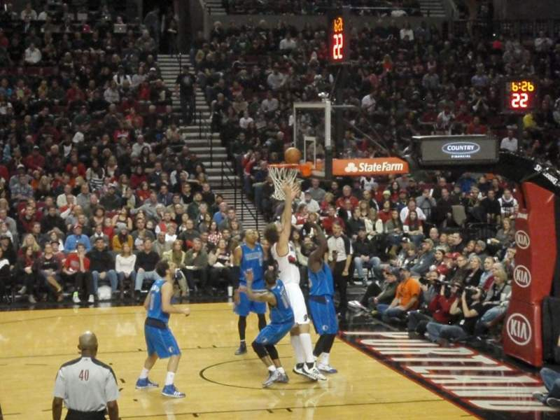 Seating view for Moda Center Section 122 Row J Seat 14