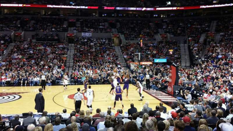 Seating view for Moda Center Section 122 Row J Seat 13