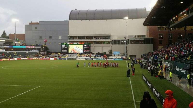 Seating view for Providence Park Section 111 Row G Seat 2