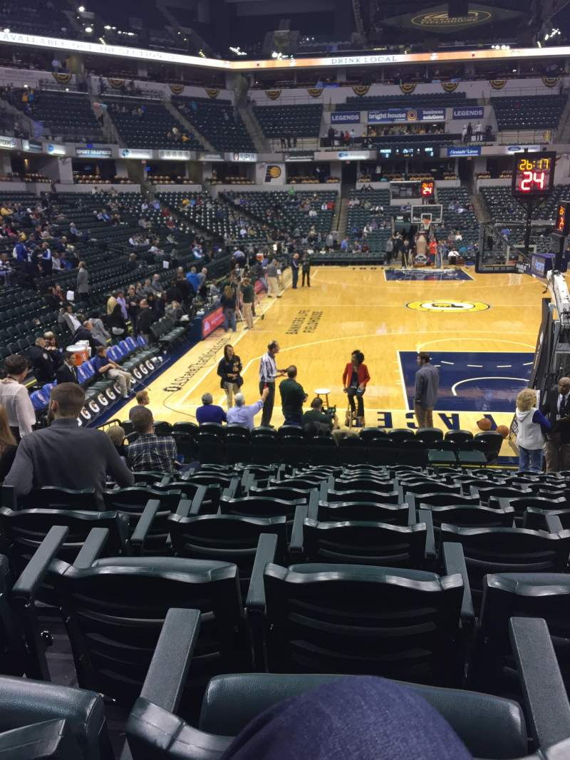 Seating view for Bankers Life Fieldhouse Section 1 Row 12 Seat 6