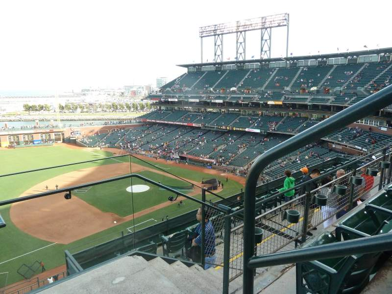 Seating view for AT&T Park Section 326 Row 2 Seat 1