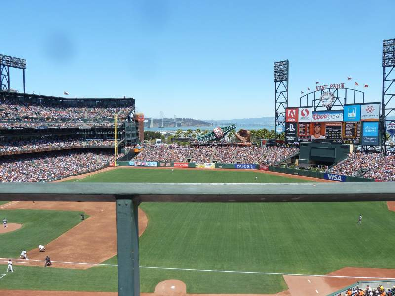 Seating view for Oracle Park Section VB304 Row A Seat 15