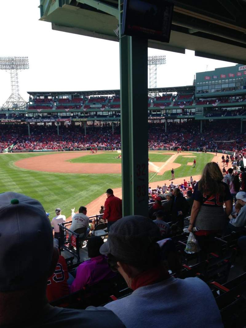 Seating view for Fenway Park Section Grandstand 33 Row 9 Seat 7