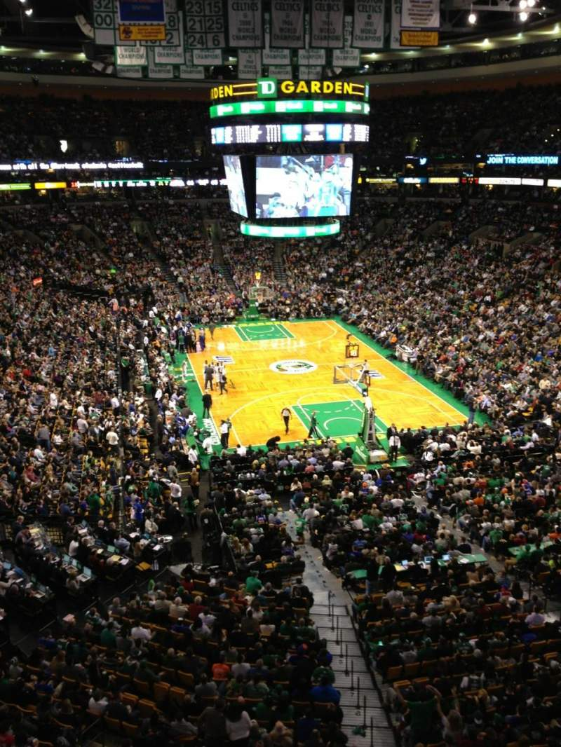 Seating view for TD Garden Section Bal 309 Row 1 Seat 8