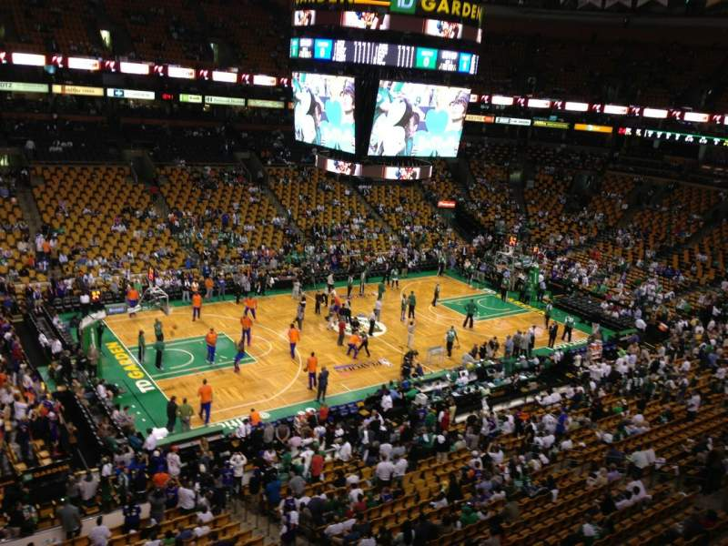 Seating view for TD Garden Section Bal 303 Row 1 Seat 1