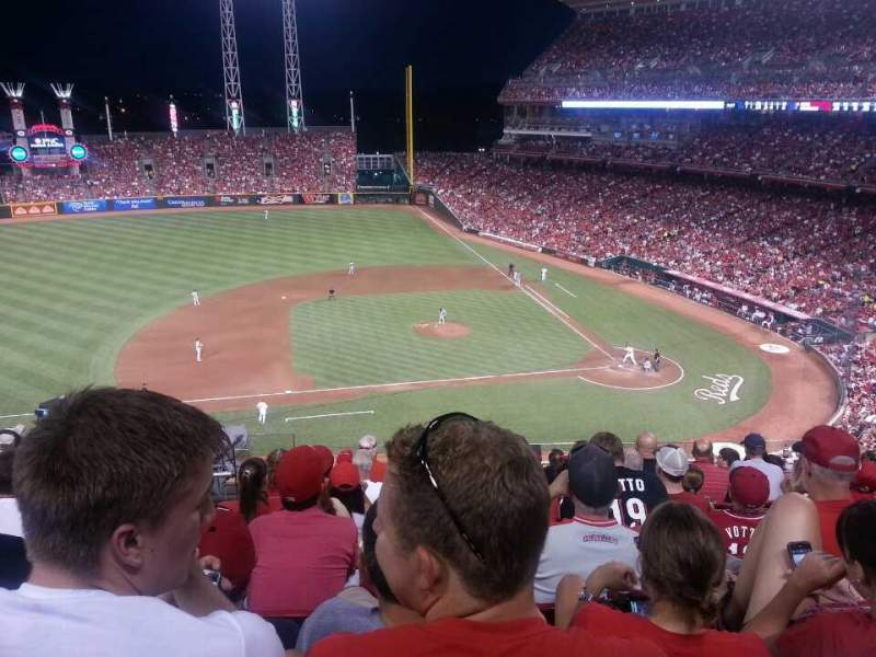 Seating view for Great American Ball Park Section 417 Row J Seat 11