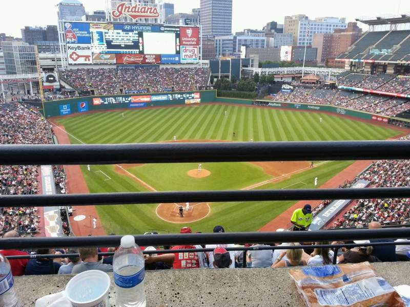 Seating view for Progressive Field Section 553 Row E Seat 11