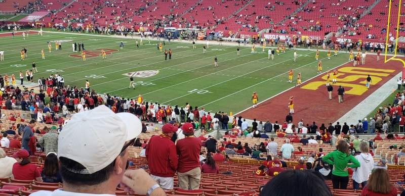 Seating view for Los Angeles Memorial Coliseum Section 19H Row 42 Seat 118