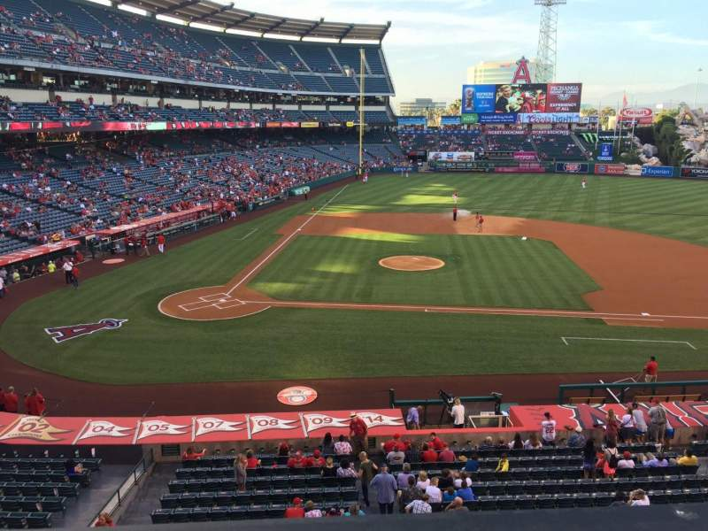 Seating view for Angel Stadium Section 333 Row A Seat 1